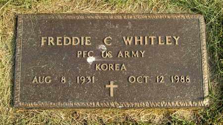 WHITLEY, FREDDIE C. - Franklin County, Ohio | FREDDIE C. WHITLEY - Ohio Gravestone Photos