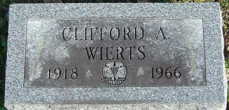 WIERTS, CLIFFORD A - Franklin County, Ohio | CLIFFORD A WIERTS - Ohio Gravestone Photos