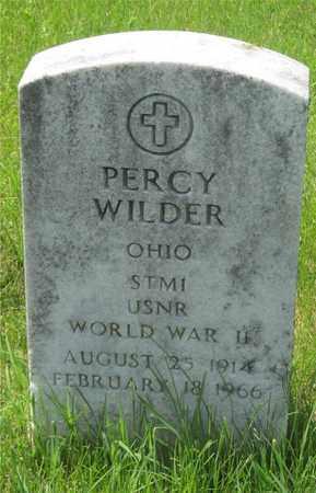 WILDER, PERCY - Franklin County, Ohio   PERCY WILDER - Ohio Gravestone Photos