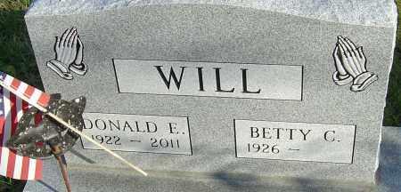 WILL, DONALD E - Franklin County, Ohio | DONALD E WILL - Ohio Gravestone Photos
