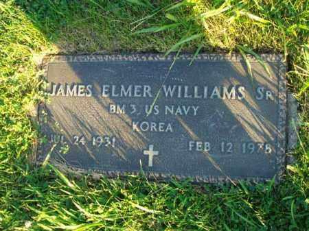 WILLIAMS, JAMES ELMER - Franklin County, Ohio   JAMES ELMER WILLIAMS - Ohio Gravestone Photos