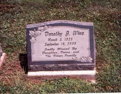 WINE, DOROTHY J. - Franklin County, Ohio | DOROTHY J. WINE - Ohio Gravestone Photos