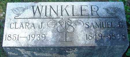 WINKLER, CLARA JANE - Franklin County, Ohio | CLARA JANE WINKLER - Ohio Gravestone Photos