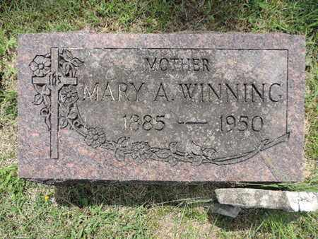 WINNING, MARY A. - Franklin County, Ohio | MARY A. WINNING - Ohio Gravestone Photos