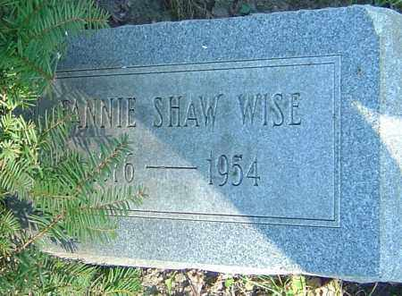SHAW WISE, FANNIE - Franklin County, Ohio | FANNIE SHAW WISE - Ohio Gravestone Photos