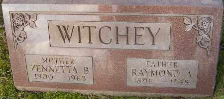 WITCHEY, ZENNETTA - Franklin County, Ohio | ZENNETTA WITCHEY - Ohio Gravestone Photos