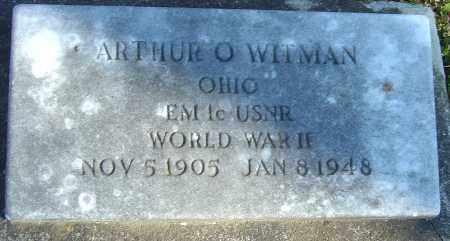 WITMAN, ARTHUR O - Franklin County, Ohio | ARTHUR O WITMAN - Ohio Gravestone Photos
