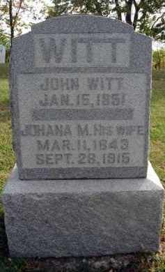 WITT, JOHANA M. - Franklin County, Ohio   JOHANA M. WITT - Ohio Gravestone Photos