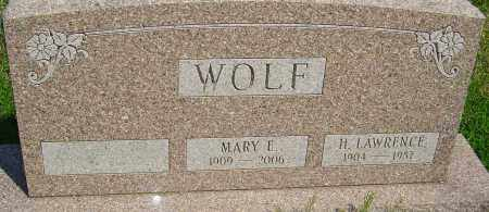 WOLF, H LAWRENCE - Franklin County, Ohio   H LAWRENCE WOLF - Ohio Gravestone Photos