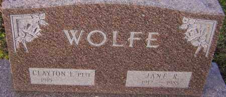 WOLFE, JANE R - Franklin County, Ohio | JANE R WOLFE - Ohio Gravestone Photos