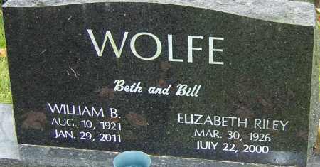 RILEY WOLFE, ELIZABETH - Franklin County, Ohio | ELIZABETH RILEY WOLFE - Ohio Gravestone Photos