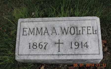 WOLFEL, EMMA A - Franklin County, Ohio | EMMA A WOLFEL - Ohio Gravestone Photos