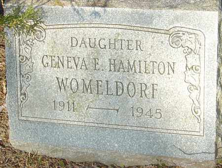HAMILTON WOMELDORF, GENEVA - Franklin County, Ohio | GENEVA HAMILTON WOMELDORF - Ohio Gravestone Photos