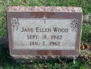 WOOD, JANE ELLEN - Franklin County, Ohio   JANE ELLEN WOOD - Ohio Gravestone Photos