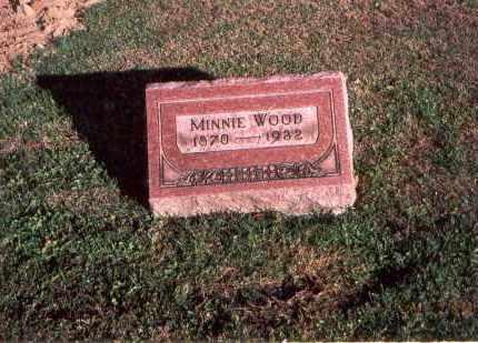 O'HARRA  WOOD, MINNIE - Franklin County, Ohio | MINNIE O'HARRA  WOOD - Ohio Gravestone Photos