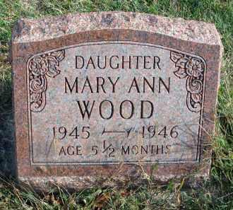 WOOD, MARY ANN - Franklin County, Ohio | MARY ANN WOOD - Ohio Gravestone Photos