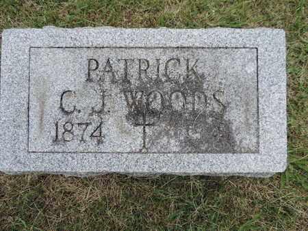 WOODS, PATRICK - Franklin County, Ohio | PATRICK WOODS - Ohio Gravestone Photos