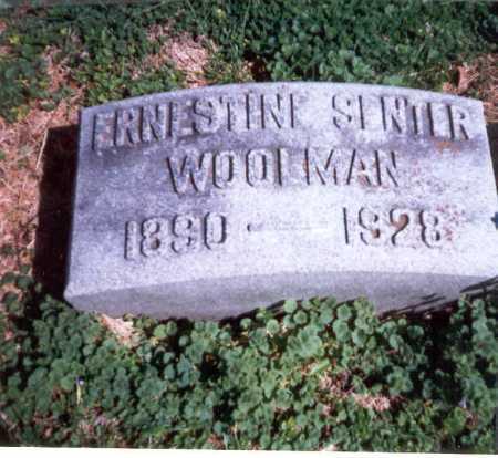 SENTER WOOLMAN, ERNESTINE - Franklin County, Ohio | ERNESTINE SENTER WOOLMAN - Ohio Gravestone Photos