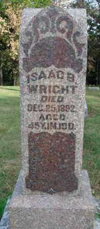 WRIGHT, ISAAC B. - Franklin County, Ohio | ISAAC B. WRIGHT - Ohio Gravestone Photos