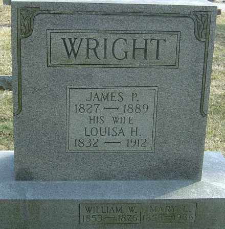WRIGHT, JAMES P - Franklin County, Ohio | JAMES P WRIGHT - Ohio Gravestone Photos