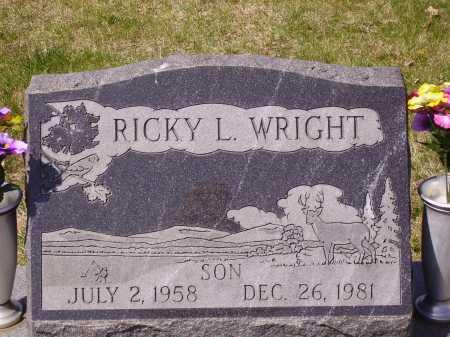 WRIGHT, RICKY L. - Franklin County, Ohio | RICKY L. WRIGHT - Ohio Gravestone Photos