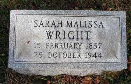 WRIGHT, SARAH MALISSA - Franklin County, Ohio | SARAH MALISSA WRIGHT - Ohio Gravestone Photos