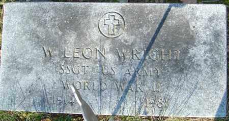 WRIGHT, W LEON - Franklin County, Ohio   W LEON WRIGHT - Ohio Gravestone Photos