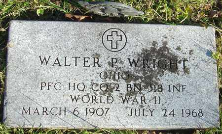 WRIGHT, WALTER P - Franklin County, Ohio | WALTER P WRIGHT - Ohio Gravestone Photos