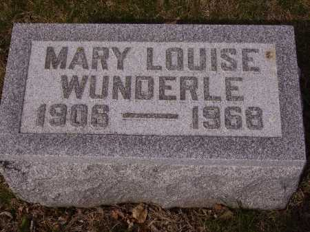 WUNDERLE, MARY LOUISE - Franklin County, Ohio | MARY LOUISE WUNDERLE - Ohio Gravestone Photos