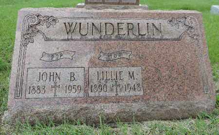 WUNDERLIN, JOHN B. - Franklin County, Ohio | JOHN B. WUNDERLIN - Ohio Gravestone Photos