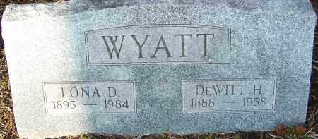 WYATT, DEWITT - Franklin County, Ohio | DEWITT WYATT - Ohio Gravestone Photos