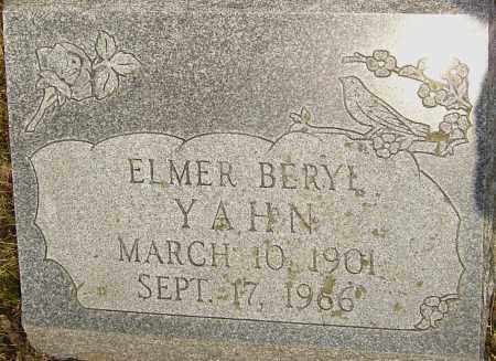 YAHN, ELMER - Franklin County, Ohio | ELMER YAHN - Ohio Gravestone Photos