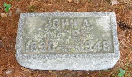 YATES, JOHN A. - Franklin County, Ohio   JOHN A. YATES - Ohio Gravestone Photos