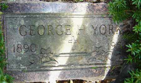 YORK, GEORGE H - Franklin County, Ohio | GEORGE H YORK - Ohio Gravestone Photos