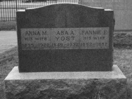 "WEIDNER/WIDENER YOST, FRANCES EVELYN ""FANNIE"" - Franklin County, Ohio | FRANCES EVELYN ""FANNIE"" WEIDNER/WIDENER YOST - Ohio Gravestone Photos"