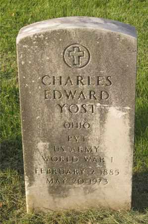 YOST, CHARLES EDWARD - Franklin County, Ohio | CHARLES EDWARD YOST - Ohio Gravestone Photos