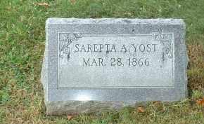 YOST, SAREPTA A - Franklin County, Ohio   SAREPTA A YOST - Ohio Gravestone Photos