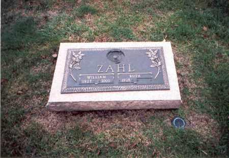 ZAHL, WILLIAM - Franklin County, Ohio | WILLIAM ZAHL - Ohio Gravestone Photos