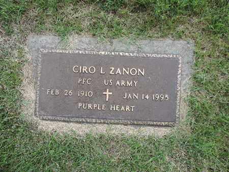 ZANON, CIRO L - Franklin County, Ohio | CIRO L ZANON - Ohio Gravestone Photos