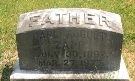 ZAPP, CARL AUGUST - Franklin County, Ohio | CARL AUGUST ZAPP - Ohio Gravestone Photos