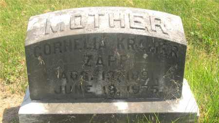 KRAMER ZAPP, CORNELIA - Franklin County, Ohio   CORNELIA KRAMER ZAPP - Ohio Gravestone Photos