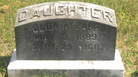 ZAPP, OLGA A. - Franklin County, Ohio | OLGA A. ZAPP - Ohio Gravestone Photos