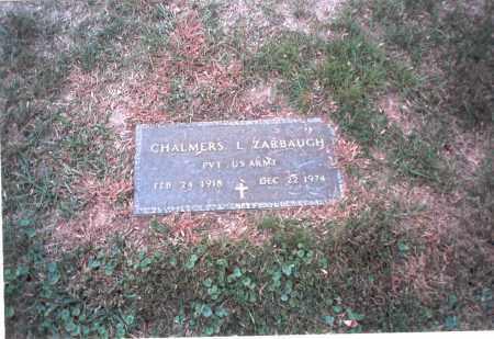 ZARBAUGH, CHALMERS - Franklin County, Ohio | CHALMERS ZARBAUGH - Ohio Gravestone Photos