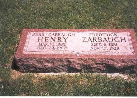 ZARBAUGH, FREDERICK - Franklin County, Ohio   FREDERICK ZARBAUGH - Ohio Gravestone Photos