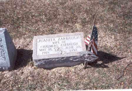 ZARBAUGH, JUANITA - Franklin County, Ohio | JUANITA ZARBAUGH - Ohio Gravestone Photos