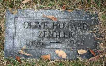HOWARD ZEIGLER, OLIVE - Franklin County, Ohio | OLIVE HOWARD ZEIGLER - Ohio Gravestone Photos