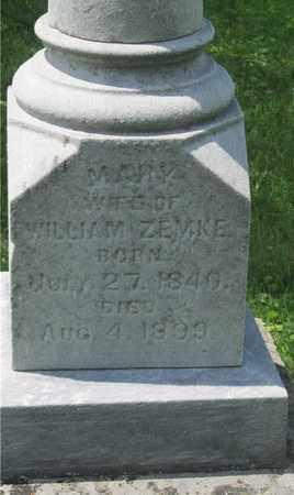 ZEMKE, MARY - Franklin County, Ohio | MARY ZEMKE - Ohio Gravestone Photos