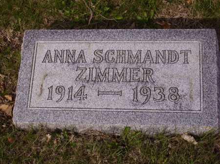 ZIMMER, ANNA - Franklin County, Ohio | ANNA ZIMMER - Ohio Gravestone Photos