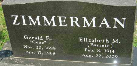 BARRETT ZIMMERMAN, ELIZABETH M - Franklin County, Ohio | ELIZABETH M BARRETT ZIMMERMAN - Ohio Gravestone Photos