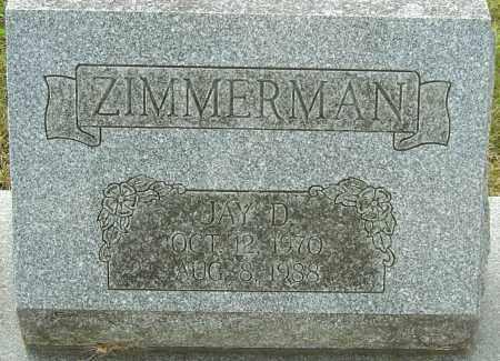 ZIMMERMAN, JAY D - Franklin County, Ohio | JAY D ZIMMERMAN - Ohio Gravestone Photos